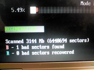 Bad Sector・・・ ハードディスク障害ビンゴ(T-T)